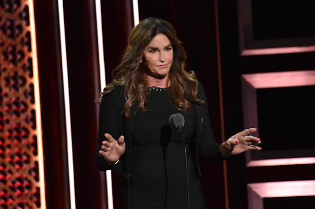 Caitlyn Jenner speaks onstage during the Comedy Central Roast of Alec Baldwin at Saban Theatre on September 07, 2019 in Beverly Hills, California. (Photo by Jeff Kravitz/FilmMagic)