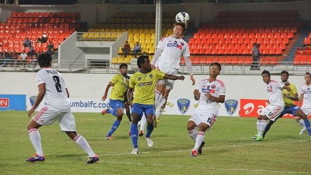 Shillong Lajong (in white) won the five-goal thriller