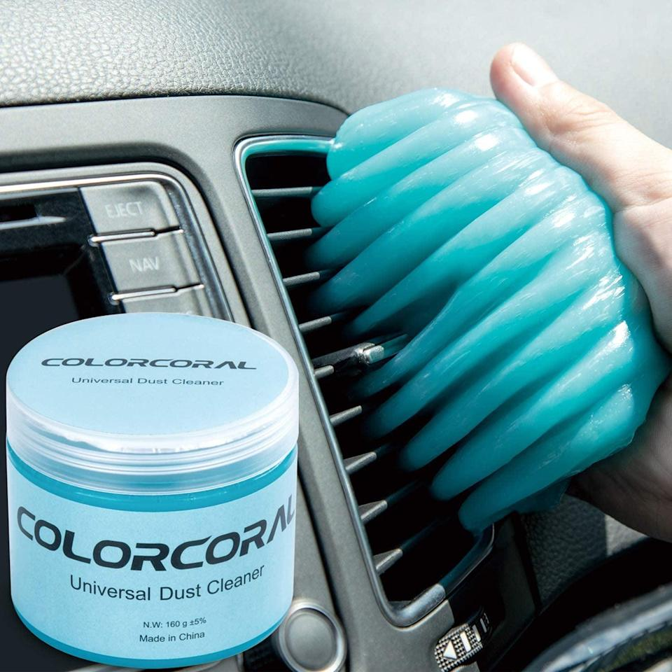 <p>Trust me, you may <em>think</em> your keyboard or remote control is clean, but just one swipe of this <span>ColorCoral Cleaning Dust Remover Putty Gel</span> ($7-$8) will likely prove otherwise. It also works amazingly well on my a/c vent . . . and you just may find yourself testing it on other potentially dusty items, too, just to see the results.</p>