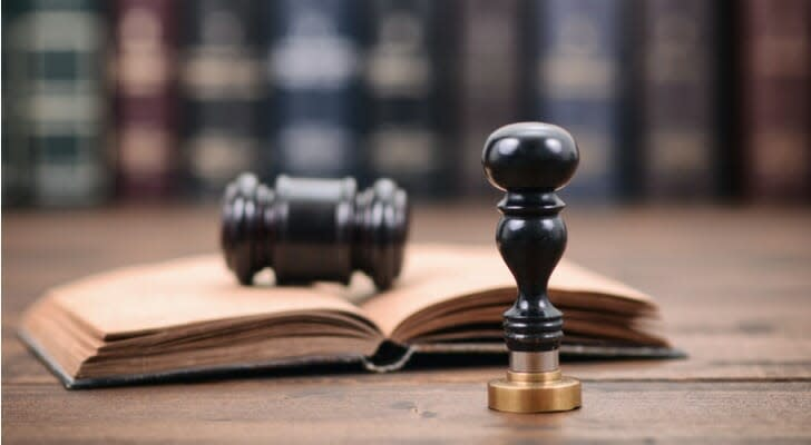 Notary seal and gavel