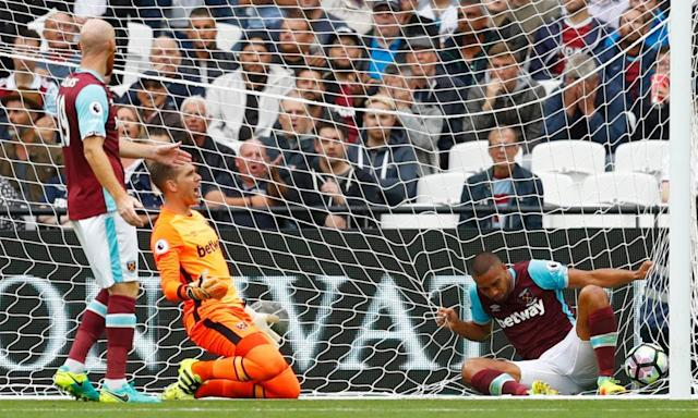 "<span class=""element-image__caption"">The 4-2 Premier League home defeat to Watford in September did not bode well for the season ahead, with trouble in the stands accompanying West Ham's woes on the pitch.</span> <span class=""element-image__credit"">Photograph: Eddie Keogh/Reuters</span>"