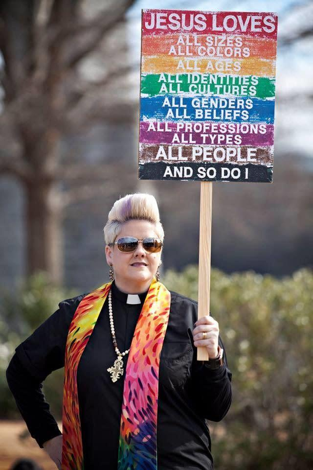 """Anna Golladay, who terms herself a<span> """"cradle United Methodist,""""</span>lost her job as a licensed local pastor in Tennessee for officiating at a lesbian wedding."""