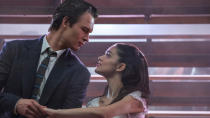 Originally set to be a major Oscars contender at the ceremony coming up in early 2021, Steven Spielberg's reimagining of the 1960s Academy favourite now has the 2022 ceremony in its crosshairs. Ansel Elgort and newcomer Rachel Zegler play star-crossed lovers Tony and Maria, with the ensemble also including <em>Hamilton</em> performer Ariana DeBose. (Credit: Niko Tavernise/20th Century Studios)