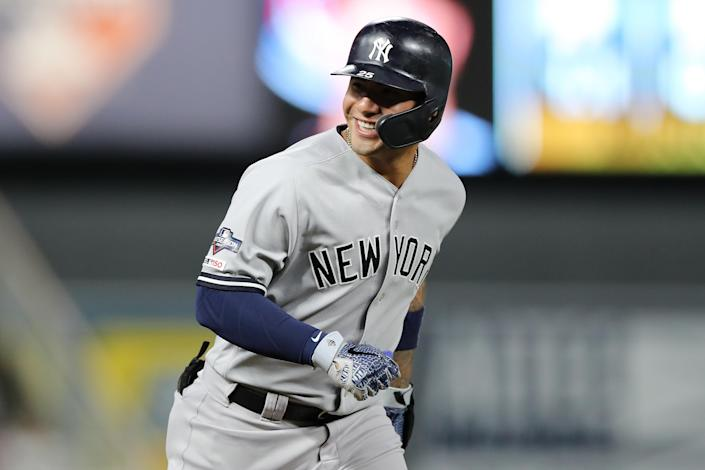 "<a class=""link rapid-noclick-resp"" href=""/mlb/players/10236/"" data-ylk=""slk:Gleyber Torres"">Gleyber Torres</a> delivered a monster 2018 season — how will he follow it up? (Photo by Elsa/Getty Images)"