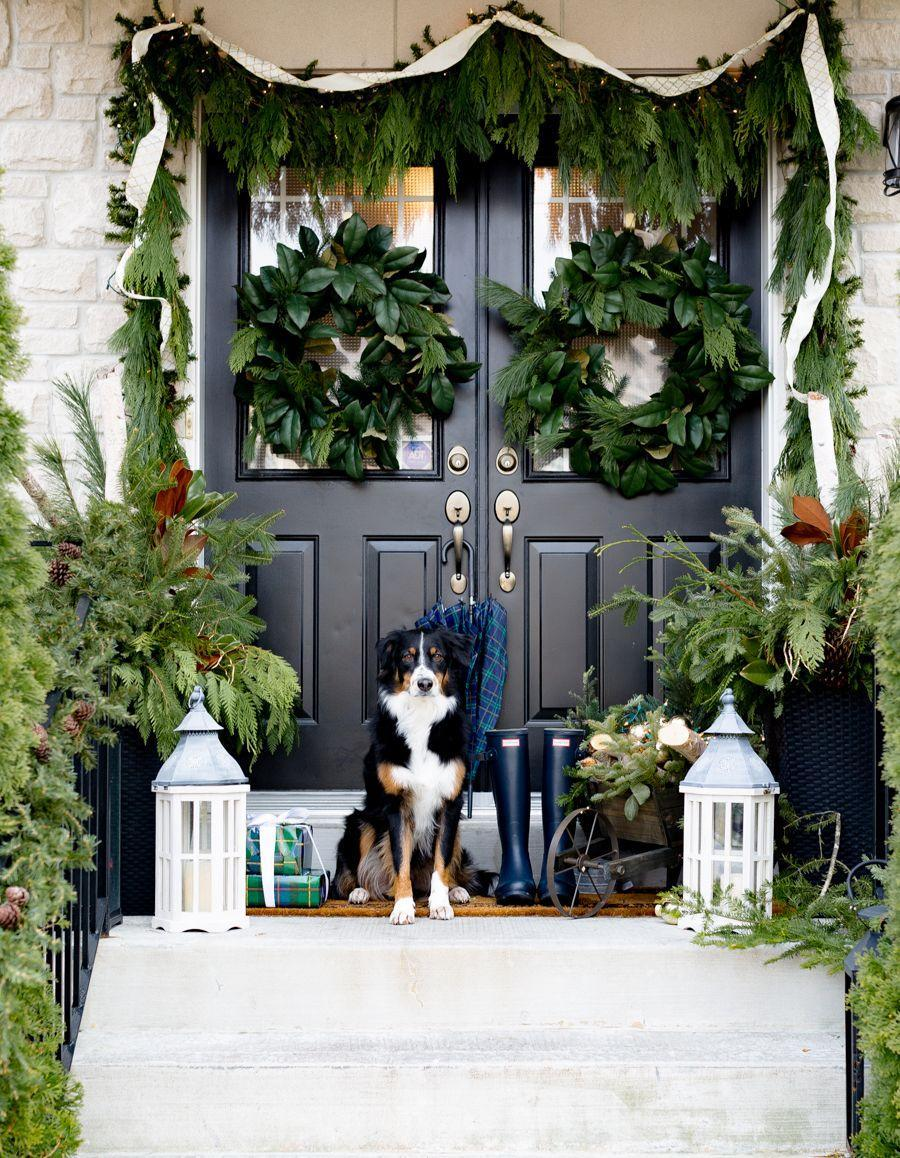 """<p>Give next-level visual appeal to an otherwise traditional look by sticking with a consistent monochromatic palette. Green decor gets a sumptuous layered look when applied to wreaths, garlands, accessories, and more.<br></p><p><strong><em>Get the look at <a href=""""https://www.craftberrybush.com/2017/12/christmas-front-porch.html"""" rel=""""nofollow noopener"""" target=""""_blank"""" data-ylk=""""slk:Craftberry Bush"""" class=""""link rapid-noclick-resp"""">Craftberry Bush</a>. </em></strong></p>"""