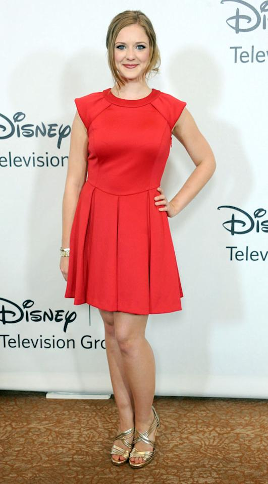 """Kaitlyn Jenkins (""""Bunheads"""") arrives at the Disney/ABC Television Group Summer 2012 Press Tour Party at The  Beverly Hilton Hotel on July 27, 2012 in Beverly Hills, California."""