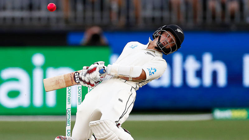 BJ Watling of New Zealand bats during day four of the First Test match in the series between Australia and New Zealand at Optus Stadium on December 15, 2019 in Perth, Australia. (Photo by Ryan Pierse/Getty Images)
