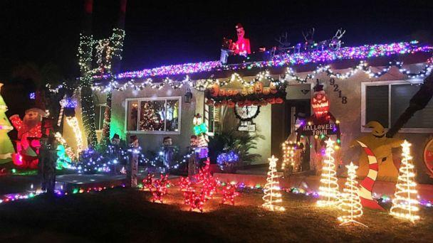 PHOTO: In December 2018, the Jones family of Downey, Calif., were victimized when someone stole some of the Christmas display pieces from their home. They decided they would not decorate anymore. (Courtesy Nickole Jones)