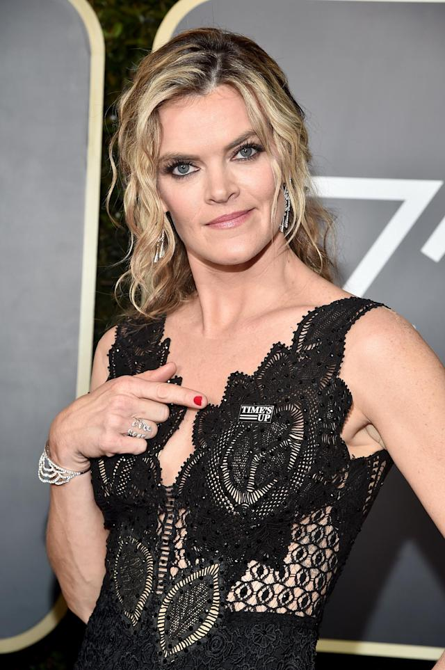 Missi Pyle attends the 75th Golden Globe Awards at the Beverly Hilton Hotel on Jan. 7. (Photo: Alberto E. Rodriguez/Getty Images)