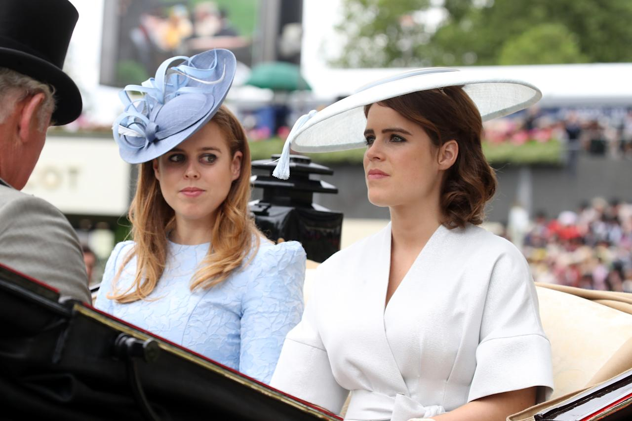 <p>The Queen's granddaughters were looking fabulous as they arrived at the Royal Ascot Racecourse. Photo: Getty </p>
