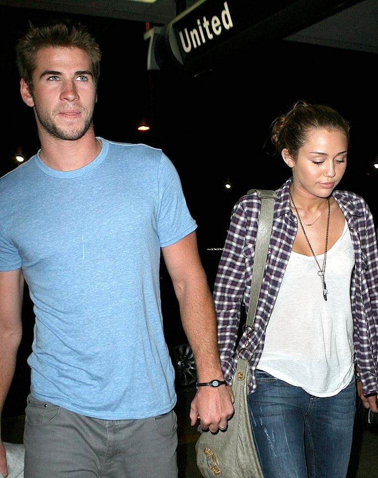 """<a href=""""http://www.gossipcop.com/miley-cyrus-cheating-perez-hilton-liam-hemsworth/"""" target=""""new"""">Gossip Cop</a> investigates Perez Hilton's calling out Miley Cyrus for """"cheating on Liam"""" Hemsworth, her boyfriend. Who got busted? ICE/<a href=""""http://www.x17online.com"""" target=""""new"""">X17 Online</a> - June 15, 2010"""