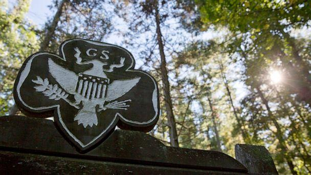 PHOTO: This Monday, Sept. 22, 2014 file photo shows the official Girl Scouts crest at the entrance of a Girl Scout Camp in Lapeer, Mich. (Erin Kirkland/The Flint Journal-MLive.com via AP)