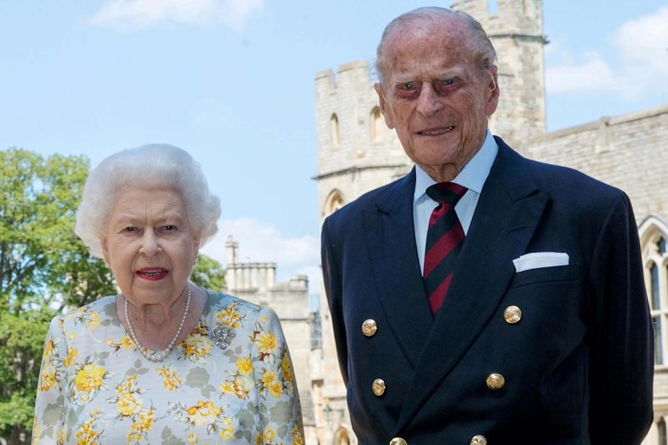 Queen Elizabeth II and Prince Philip, pose at Windsor Castle ahead of the Duke of Edinburgh's birthday: REUTERS