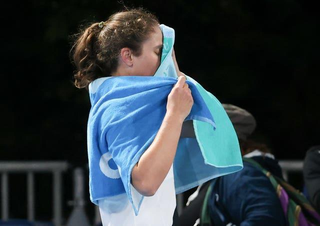 Konta will be going no further in the Australian Open