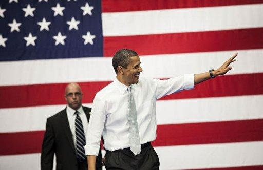 <p>US President Barack Obama arrives to speak about tax reform at Florida Atlantic University in Boca Raton, Florida. Obama's campaign formally welcomed Republican Mitt Romney to the White House duel Tuesday, with a caustic warning: the more Americans see of him, the less they like him.</p>