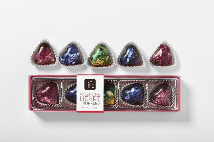 "<p>liftchocolates.com</p><p><strong>$17.00</strong></p><p><a href=""https://www.liftchocolates.com/products30/lift-5-piece"" rel=""nofollow noopener"" target=""_blank"" data-ylk=""slk:Shop Now"" class=""link rapid-noclick-resp"">Shop Now</a></p><p>These pretty hand-painted truffles are <em>almost</em> too pretty to eat, but your Valentine won't be able to resist the hazelnut, bittersweet, Irish creme, raspberry, and guava flavors.</p>"