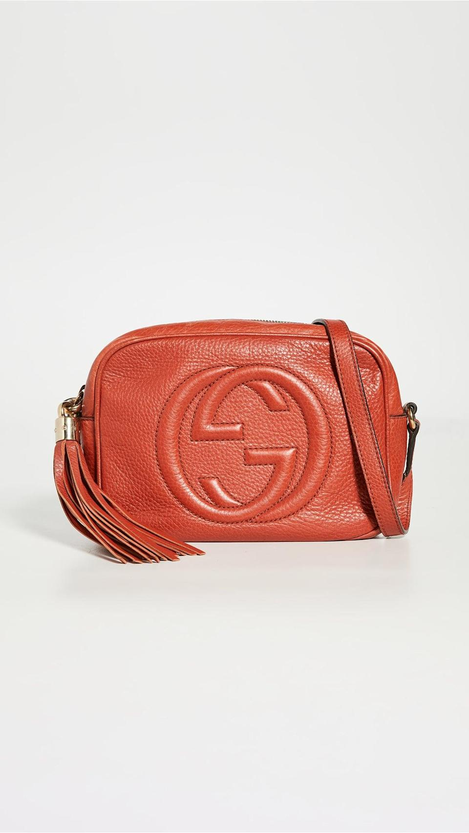 <p>This <span>Gucci Soho Disco PM Front Logo Grained l</span> ($990, originally $1,650) is so special. It's timeless and elegant, and will always be a fan favorite.</p>