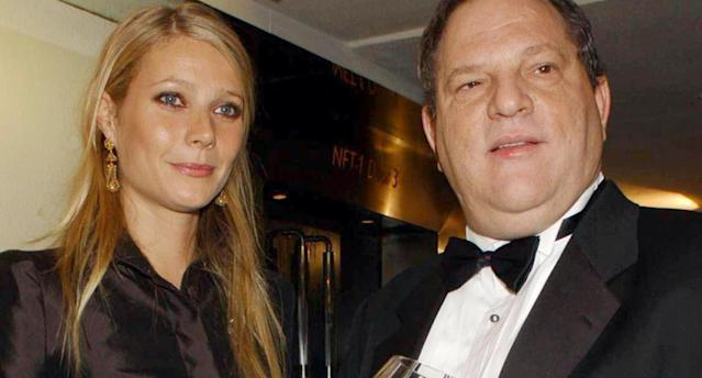 Harvey Weinstein and Gwyneth Paltrow at a gala. (Photo: Yui Mok – PA Images/PA Images via Getty Images)