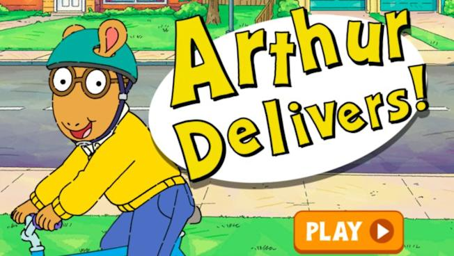 """An """"Arthur Delivers!"""" Game from PBSKids"""