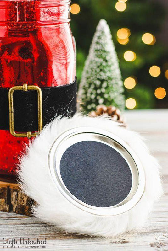"""<p>Fill it with candy, snack mix, pretzels—no matter what it holds this jolly old St. Nick jar makes a spiffy gift.</p><p><strong>Get the tutorial at <a href=""""http://blog.consumercrafts.com/seasonal/santa-mason-jar-christmas-gifts/"""" rel=""""nofollow noopener"""" target=""""_blank"""" data-ylk=""""slk:Crafts Unleashed"""" class=""""link rapid-noclick-resp"""">Crafts Unleashed</a>.</strong></p><p><a class=""""link rapid-noclick-resp"""" href=""""https://www.amazon.com/s?k=black+ribbon&i=arts-crafts&ref=nb_sb_noss&tag=syn-yahoo-20&ascsubtag=%5Bartid%7C10050.g.2132%5Bsrc%7Cyahoo-us"""" rel=""""nofollow noopener"""" target=""""_blank"""" data-ylk=""""slk:SHOP BLACK RIBBON"""">SHOP BLACK RIBBON</a><br></p>"""
