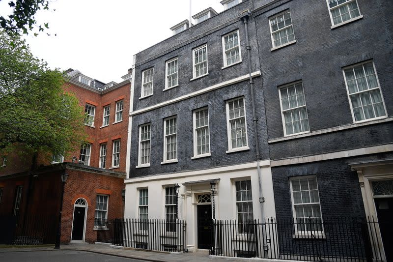 A general view shows Downing Street in London