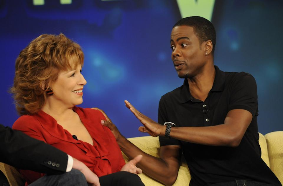 """Chris Rock says """"View"""" co-host Joy Behar may have known something was """"off"""" about him, even before he was diagnosed. (Photo: Getty Images)"""