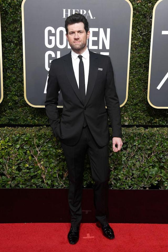 <p>The <em>American Horror Story</em> actor, perhaps best known for <em>Billy on the Street</em>, attends the 75th Annual Golden Globe Awards at the Beverly Hilton Hotel in Beverly Hills, Calif., on Jan. 7, 2018. (Photo: Frazer Harrison/Getty Images) </p>