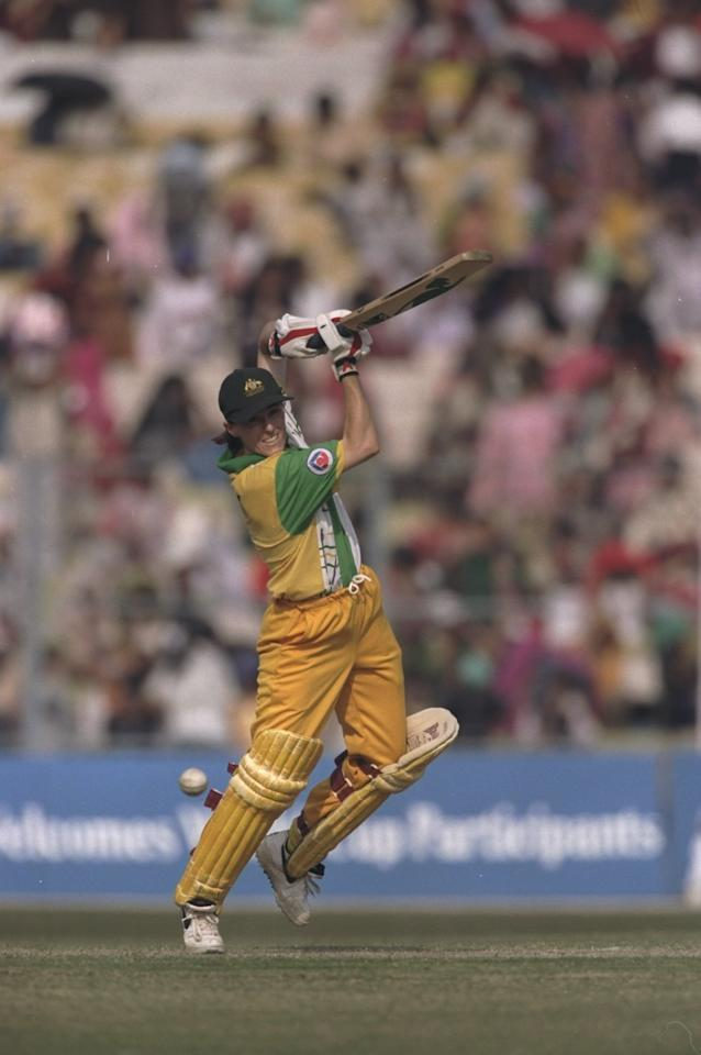29 Dec 1997:  Belinda Clark of Australia batting during the Women's Cricket World Cup Final against New Zealand at Eden Gardens in Calcutta, India. Australia won the match by five wickets. \ Mandatory Credit: Craig Prentis /Allsport