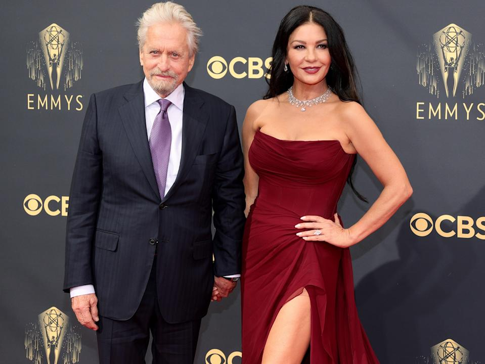 Michael Douglas and Catherine Zeta-Jones at the 73rd Primetime Emmy Awards (Rich Fury/Getty Images)