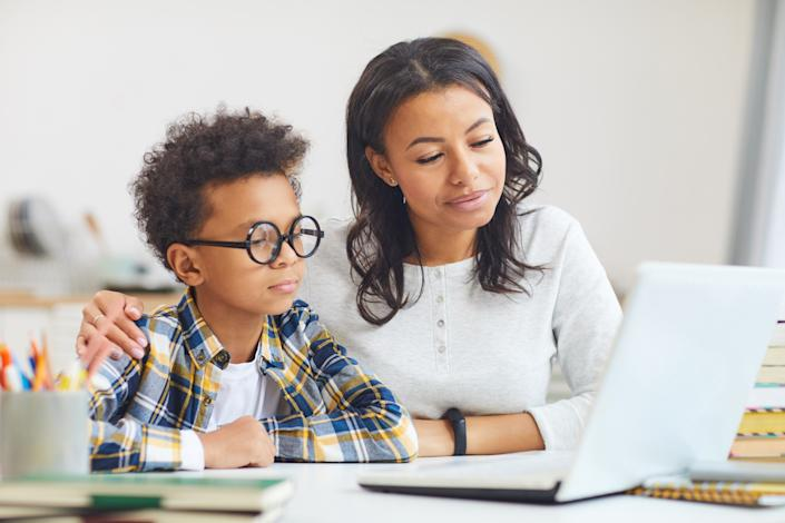 Work with your child to create secure and strong passwords. (Photo: Getty)