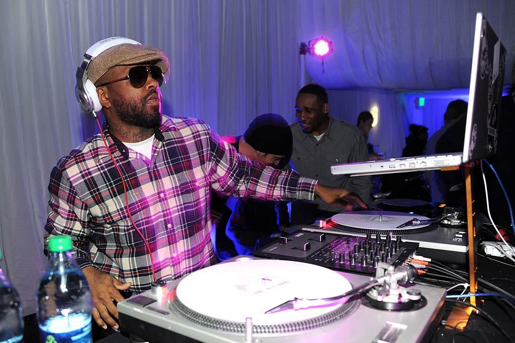 """Although he's not necessarily known for his work in indie film, Jermaine Dupri scored an invite to Sundance, where he spun tunes for partygoers. Andrew H. Walker/<a href=""""http://www.gettyimages.com/"""" target=""""new"""">GettyImages.com</a> - January 21, 2011"""