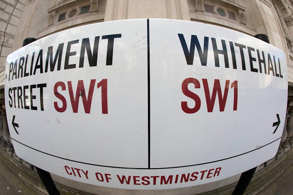 Parliament Street and Whitehall street sign (Victoria Jones/PA) (PA Archive)