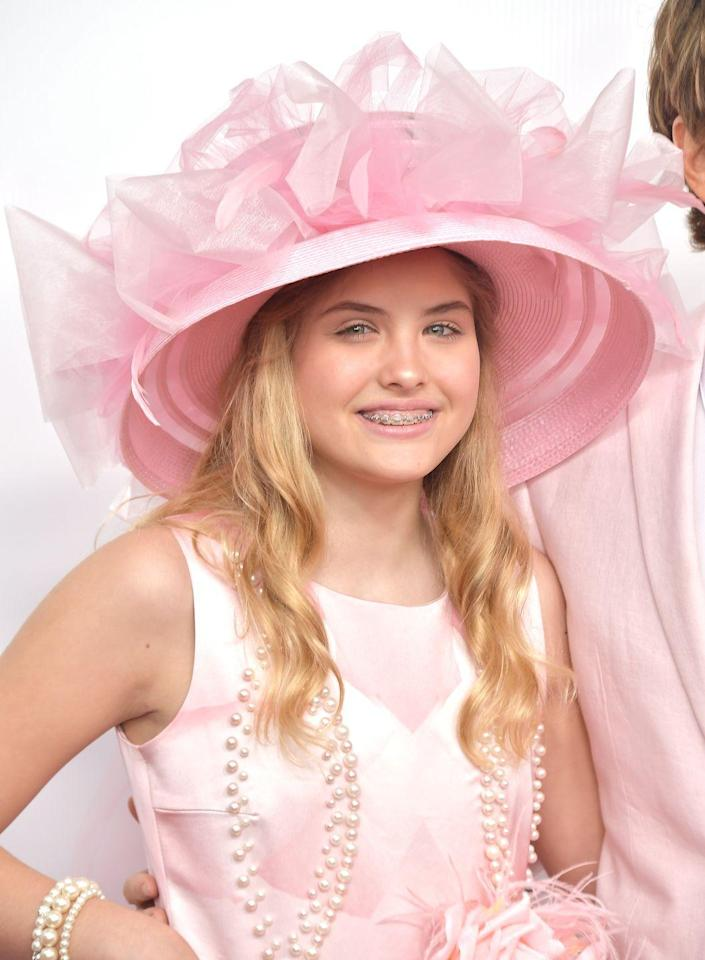 <p>The 13-year-old made an appearance last year at the Kentucky Derby with her dad. The older she gets, the more she looks like her model mom!</p>