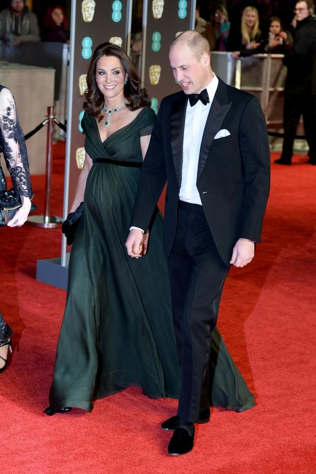 Prince William and Kate Middleton at 2018 BAFTAs