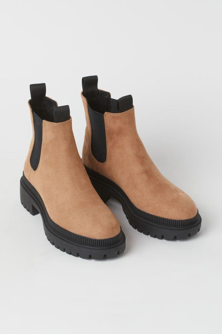 <p>If you love suede and want a lighter shade, you've found your match. The <span>H&amp;M Chelsea Boots</span> ($40) will be your new go-to pair of the season.</p>