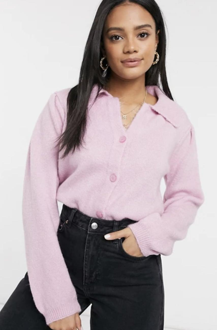 <p>This <span>ASOS Design Fluffy Collared Sweater</span> ($31, originally $45) is very on-trend right now.</p>