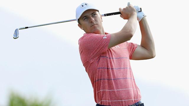 "<a class=""link rapid-noclick-resp"" href=""/pga/players/11107/"" data-ylk=""slk:Jordan Spieth"">Jordan Spieth</a> was cruising along at the Sony Open, 4 under through 16 holes after a rocky start to his round when the bottom dropped out of his day."