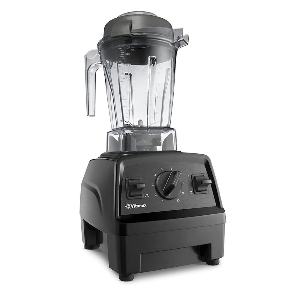 """<p><strong>Vitamix</strong></p><p>amazon.com</p><p><strong>$330.89</strong></p><p><a href=""""https://www.amazon.com/dp/B0758JHZM3?tag=syn-yahoo-20&ascsubtag=%5Bartid%7C10055.g.29535920%5Bsrc%7Cyahoo-us"""" rel=""""nofollow noopener"""" target=""""_blank"""" data-ylk=""""slk:Shop Now"""" class=""""link rapid-noclick-resp"""">Shop Now</a></p><p>It's a cult fave for a reason: Short of cleaning your kitchen there's nothing the showpiece Vitamix can't do. With professional-grade precision and control, it can make everything from perfectly smooth nut butters to hearty soups and more. </p>"""