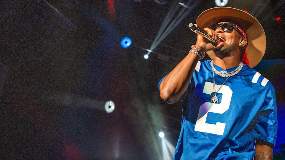 """<ul> <li><strong>Net Worth:</strong> Unknown</li> </ul> <p><span>Country music singer/songwriter Jimmie Allen's exact net worth is unclear, but his star power is well defined. According to his own site, he's the first African-American artist to start his career with two consecutive No. 1 hits: """"Best Shot"""" and """"Make Me Want To,"""" both off his 2018 debut album """"Mercury Lane.""""</span></p> <p><em><strong>Check Out: <a href=""""https://www.gobankingrates.com/net-worth/celebrities/richest-celebrity-state/?utm_campaign=1144161&utm_source=yahoo.com&utm_content=3&utm_medium=rss"""" rel=""""nofollow noopener"""" target=""""_blank"""" data-ylk=""""slk:The Richest Celebrity From Every State"""" class=""""link rapid-noclick-resp"""">The Richest Celebrity From Every State</a></strong></em></p> <p><small>Image Credits: John D Shearer/Shutterstock</small></p>"""
