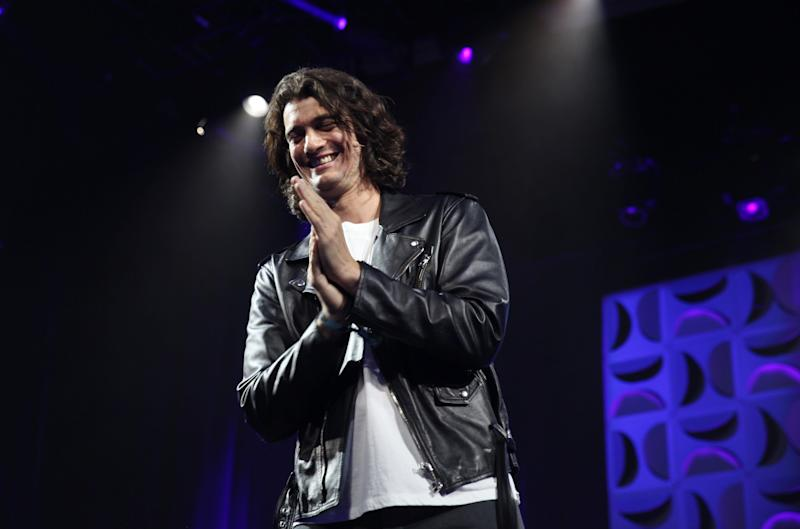 SAN FRANCISCO, CA - MAY 10: Adam Neumann Founder of WeWork speaks on stage at the WeWork San Francisco Creator Awards at Palace of Fine Arts on May 10, 2018 in San Francisco, California. (Photo by Kelly Sullivan/Getty Images for the WeWork Creator Awards)