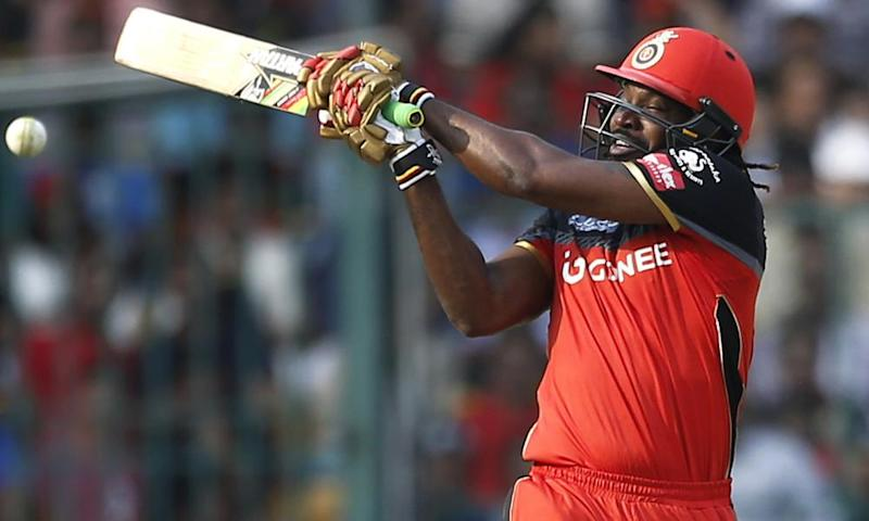 Chris Gayle doing his thing for Royal Challengers Bangalore in the IPL recently.