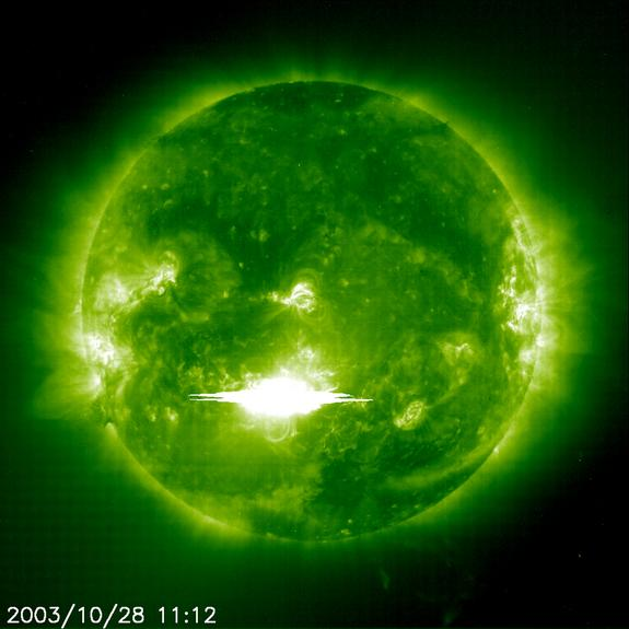 Giant Halloween Solar Storm Sparked Earth Scares 10 Years Ago (Video)