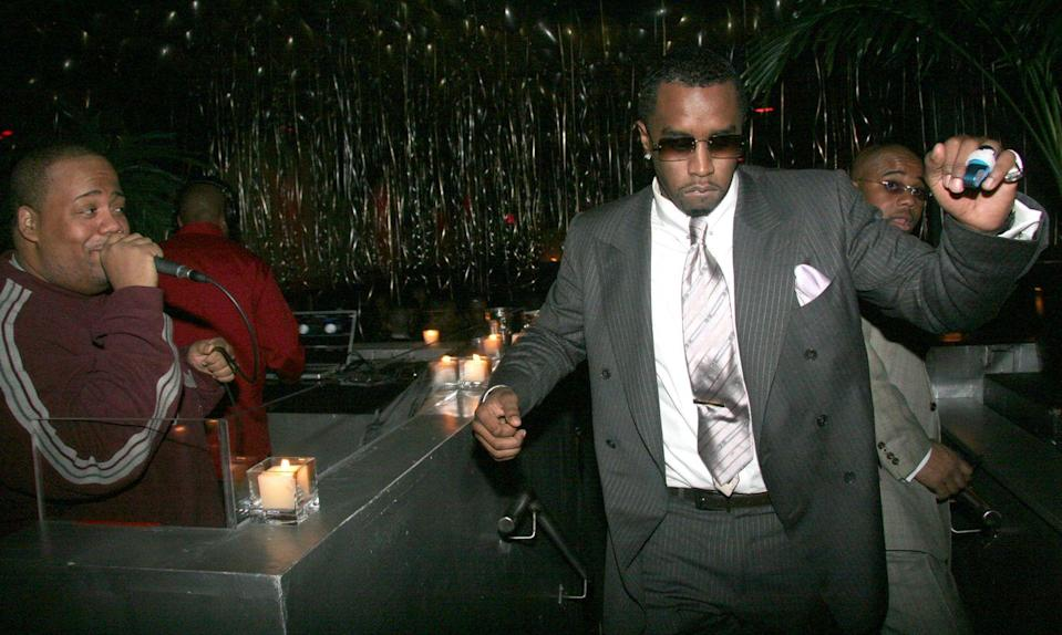 """<p>Sean """"Diddy"""" Combs learned from the best as a backup dancer for people like Big Daddy Kane and Heavy D. He also appeared in music videos alongside Heavy D. and The Boyz's when they <a href=""""https://youtu.be/Fk5vlKmI1KI"""" rel=""""nofollow noopener"""" target=""""_blank"""" data-ylk=""""slk:performed on In Living Color"""" class=""""link rapid-noclick-resp"""">performed on <em>In Living Color</em></a><em>. </em>His career as a rapper and producer officially started in 1993.</p>"""