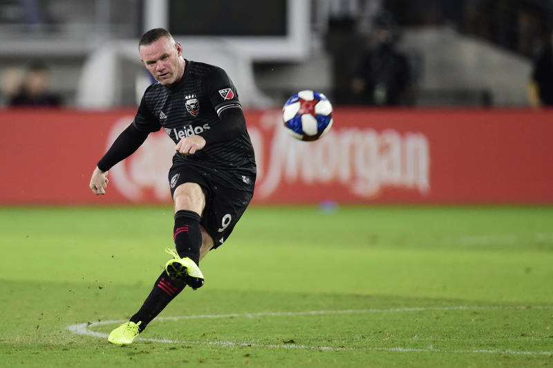 Wayne Rooney in action for D.C. United. (Photo by Patrick McDermott/Getty Images)
