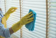 "<p>Don't let your blinds collect dust. According to<em> Country Living</em>, if your blinds are dusty, <a href=""https://www.countryliving.com/home-maintenance/cleaning/a30899189/how-to-clean-blinds/"" rel=""nofollow noopener"" target=""_blank"" data-ylk=""slk:you will only need a vacuum with the brush attachment, a feather duster, or a microfiber cloth"" class=""link rapid-noclick-resp"">you will only need a vacuum with the brush attachment, a feather duster, or a microfiber cloth</a> to clean them. For wooden slatted or mini blinds, simply shut the blinds and vacuum or wipe the dust away. For any other material, vacuum the front and back of the shades to whisk away dust. </p><p>If a deeper clean is necessary, plastic and metal blinds can be restored using an even mixture of warm water and white vinegar with a few drops of dish soap mixed in. Wet a sponge in the solution, wring it out well, and wipe down each slat. For wood blinds, use furniture polish, and for microfiber or cloth blinds, gently wipe them with a mild soap and warm water solution.</p>"