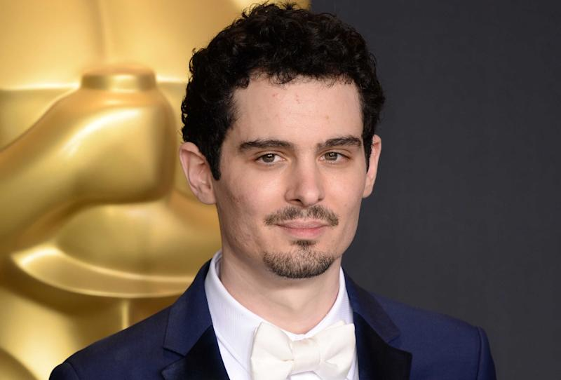 Damien Chazelle poses with the award for Directing for La La Land 89th Academy Awards. (Doug Peters/EMPICS Entertainment)