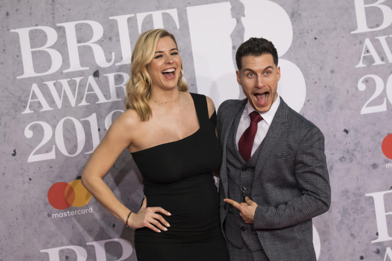 Gemma Atkinson and Gorka Marquez welcomed thier first child earlier in July (Credit: Vianney Le Caer/Invision/AP)