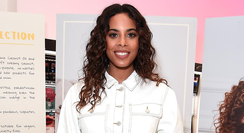Rochelle Humes wears Bershka joggers on This Morning