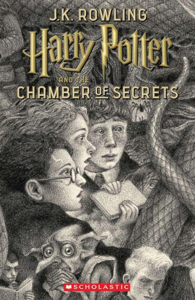 PHOTO: Scholastic's new book cover for 'Harry Potter and the Chamber of Secrets,' featuring art by Brian Selznick, is pictured here. (Brian Selznick (c) 2018 by Scholastic Inc.)