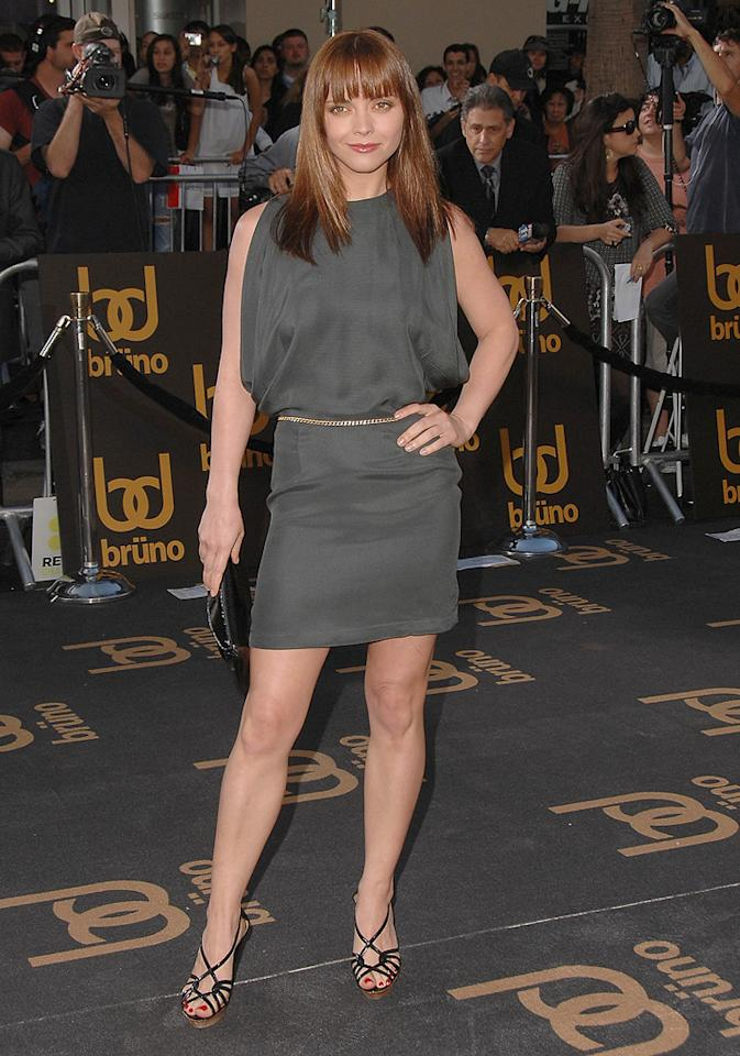 "<a href=""http://movies.yahoo.com/movie/contributor/1800018567"">Christina Ricci</a> at the Los Angeles premiere of <a href=""http://movies.yahoo.com/movie/1809922951/info"">Bruno</a> - 06/25/2009"